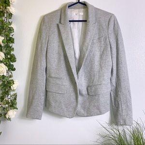 Loft Womens Gray One Button Blazer